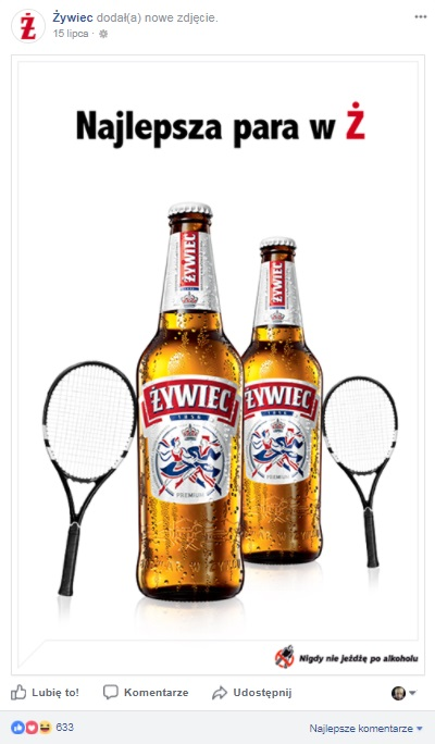 tenis żywiec real time marketing