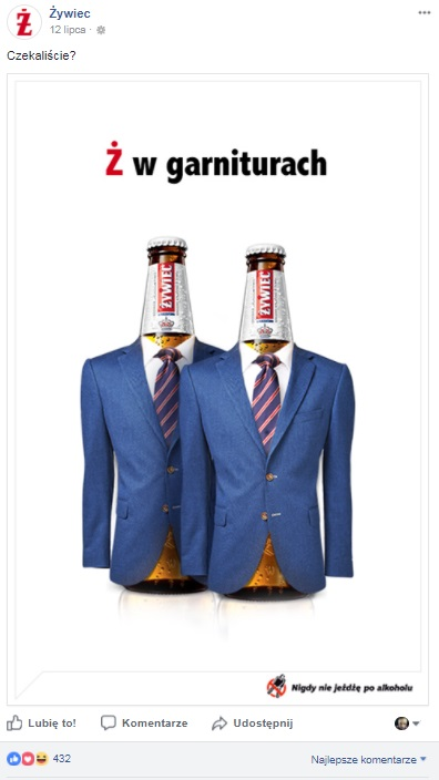 suit powrót żywiec real time marketing