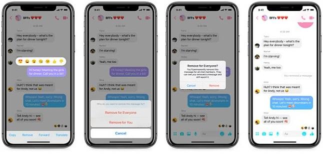 Facebook z opcją unsend na Messengerze