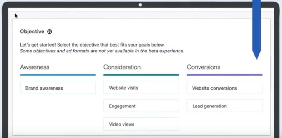 linkedin reklama w oparciu o cele reklamowe