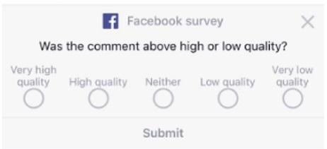 Facebook wprowadza testowe ankiety komentarzy