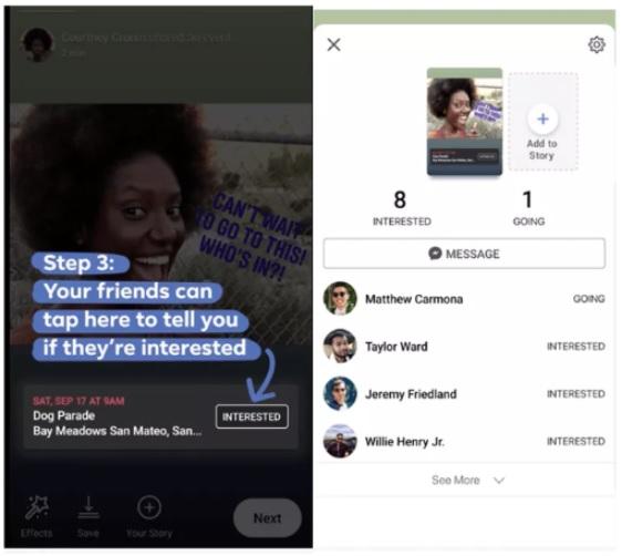 promocja wydarzeń w stories na Facebooku