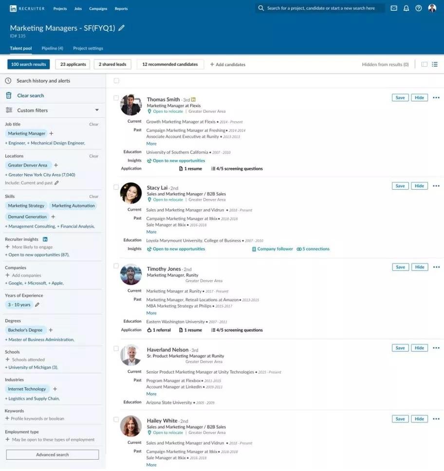 Nowe narzędzia dla rekruterów na LinkedIn