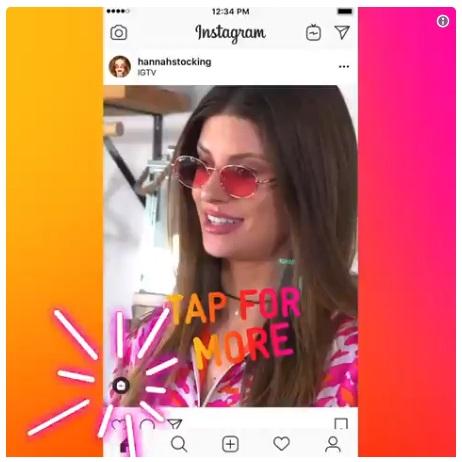 promocja IGTV na instagramie