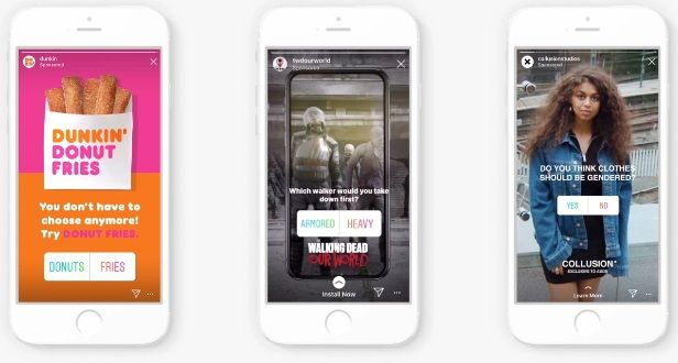 Ankiety w sponsorowanych stories na Instagramie