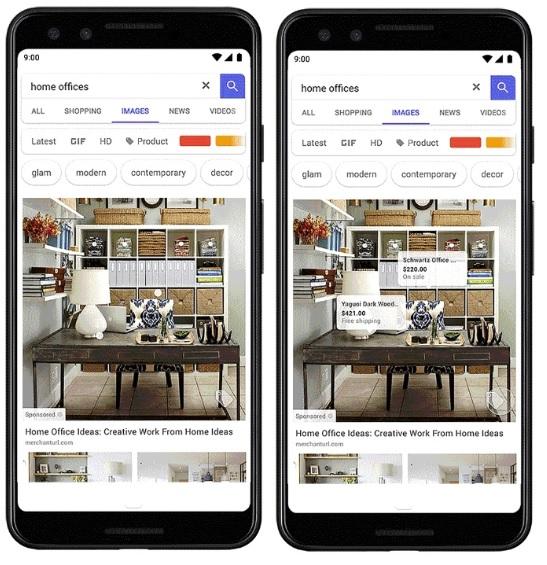 Google wprowadza shopable Ads