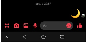 Dark Mode na Messengerze emoji księżyca