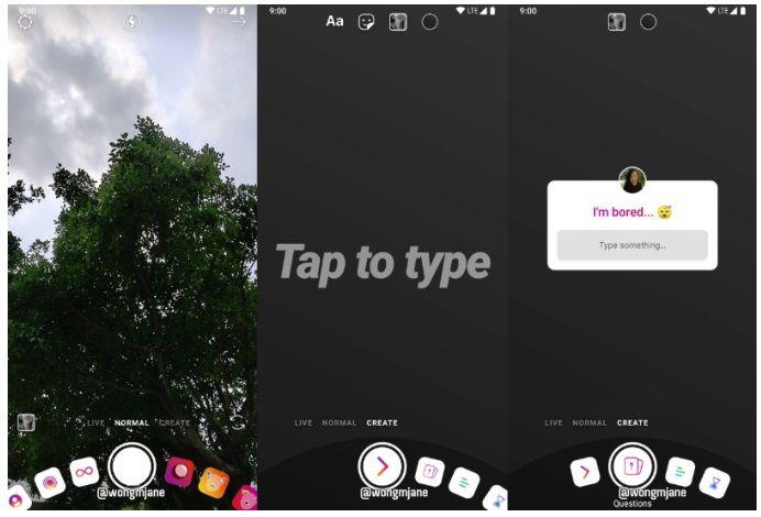 Nowy interfejs aparatu w Stories na Instagramie