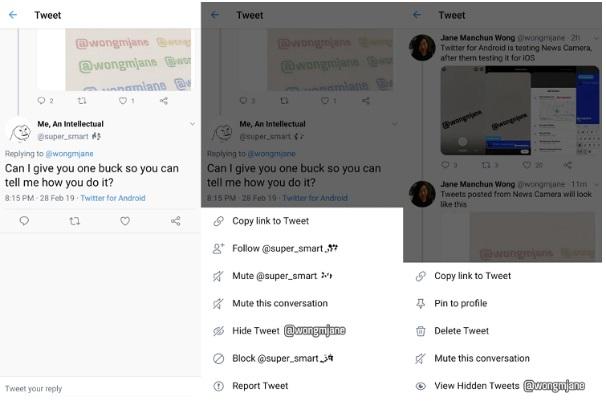 Ukrywanie postów na Twitterze