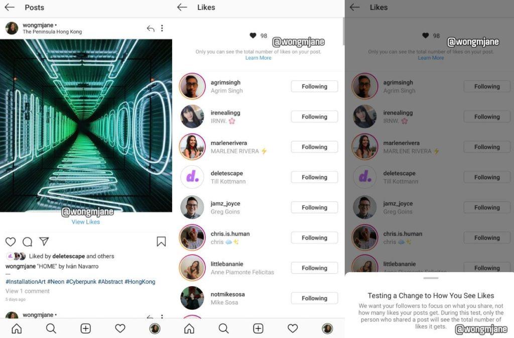 Instagram ukrywa licznik polubień