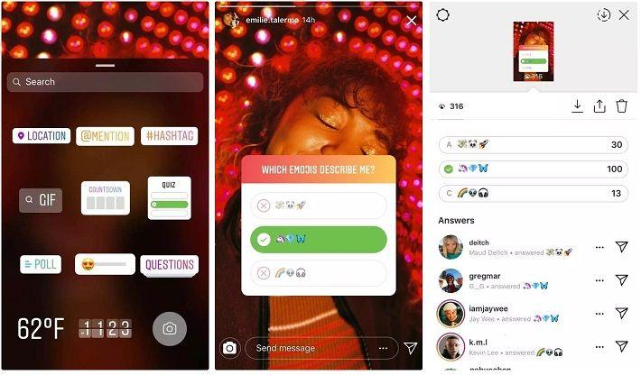 Instagram wprowadza quizy