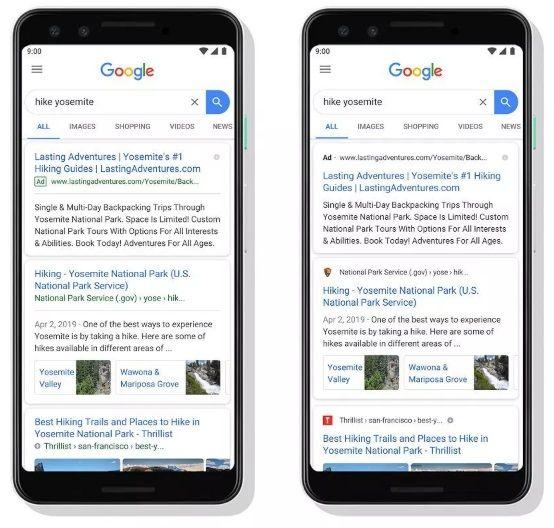 google wprowadza nowy wygląd wyników wyszukiwania
