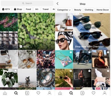 Nowa sekcja Explore na Instagramie