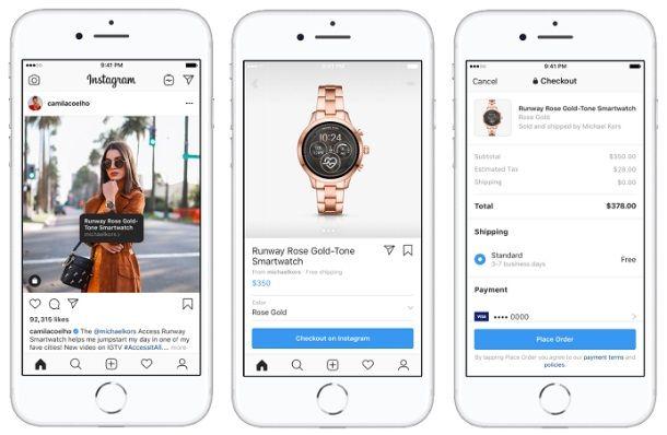 zakupy w Instagramie na kanałach twórców