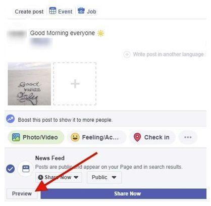 facebook testuje podgląd postów