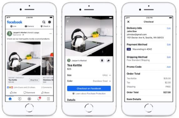 Facebook i Instagram testują opcje zakupów