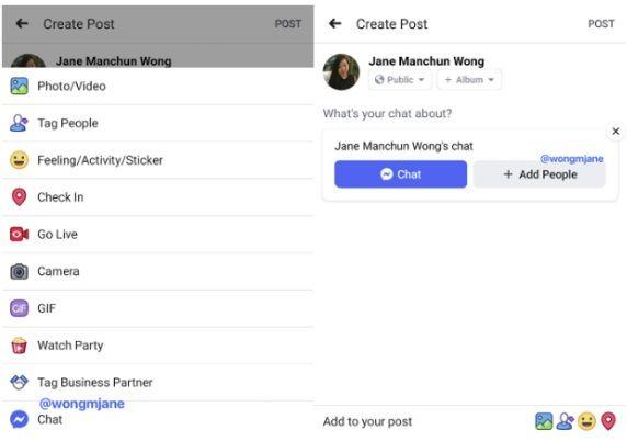 Publikowanie postów na Messengera?
