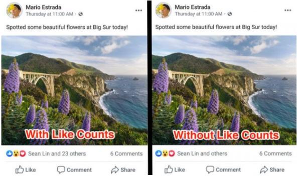 Facebook ukrywa licznik reakcji