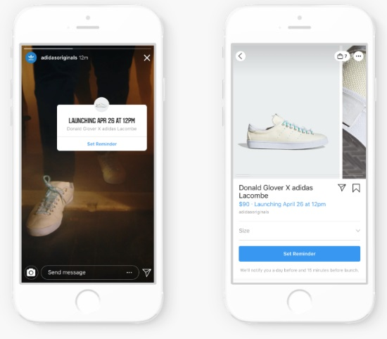 instagram powiadomi o premierze produktu
