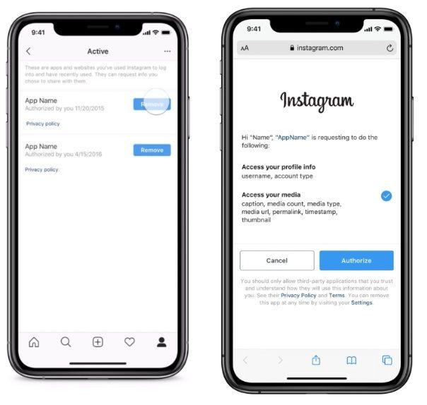 kontrola danych na Instagramie